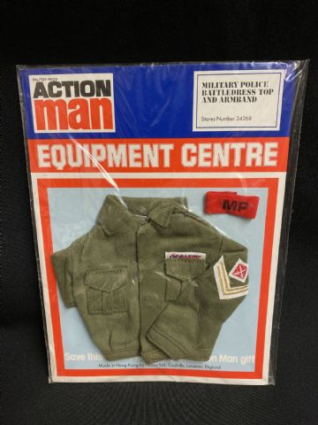 VINTAGE ACTION MAN - Equipment Centre - Military Police Battledress & Armband